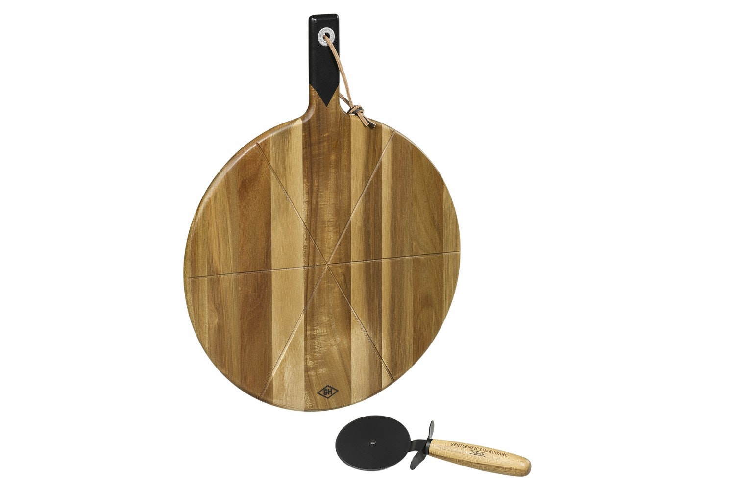 Pizza Cutter And Serving Board 15""