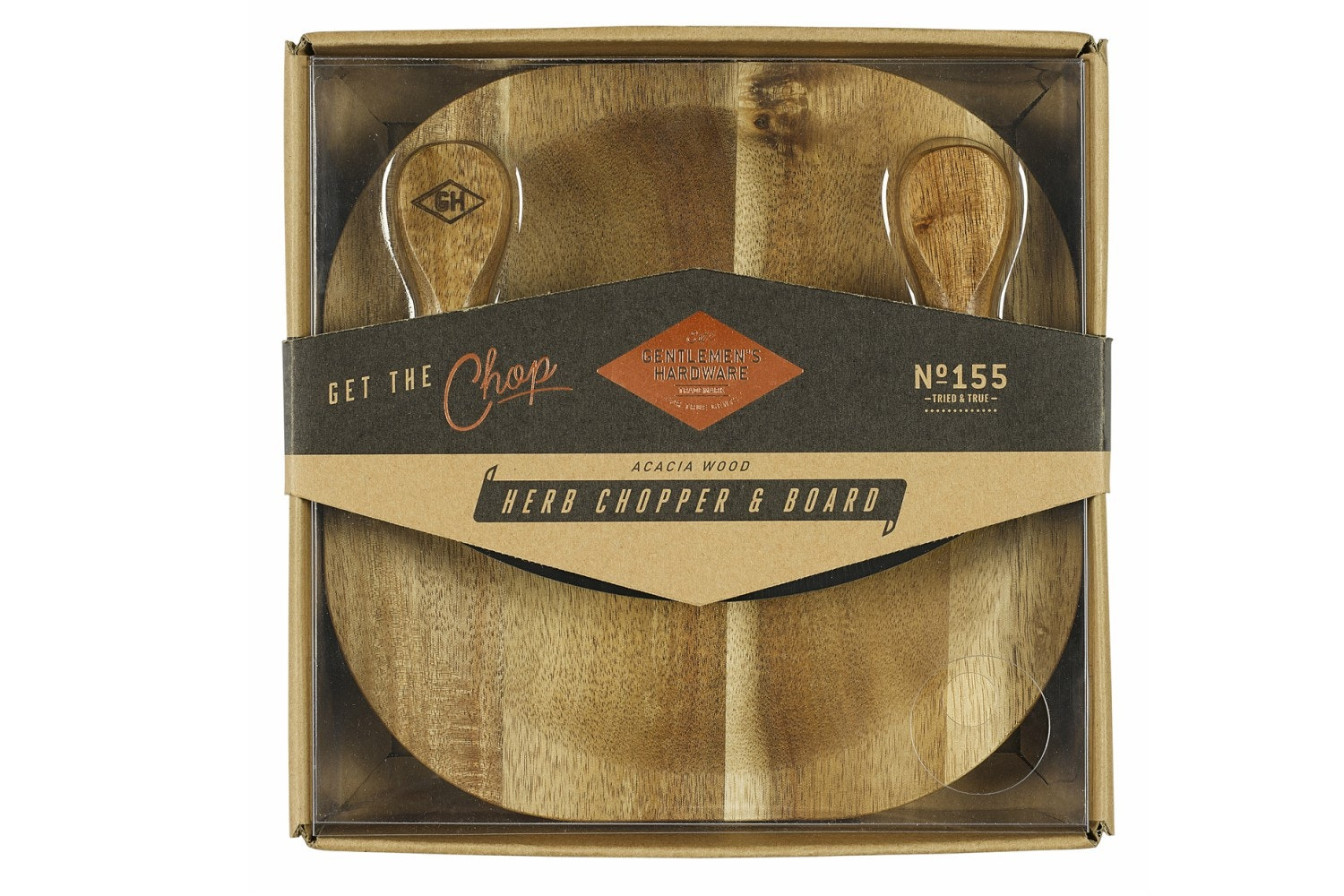 Herb Chopping Board With Knife
