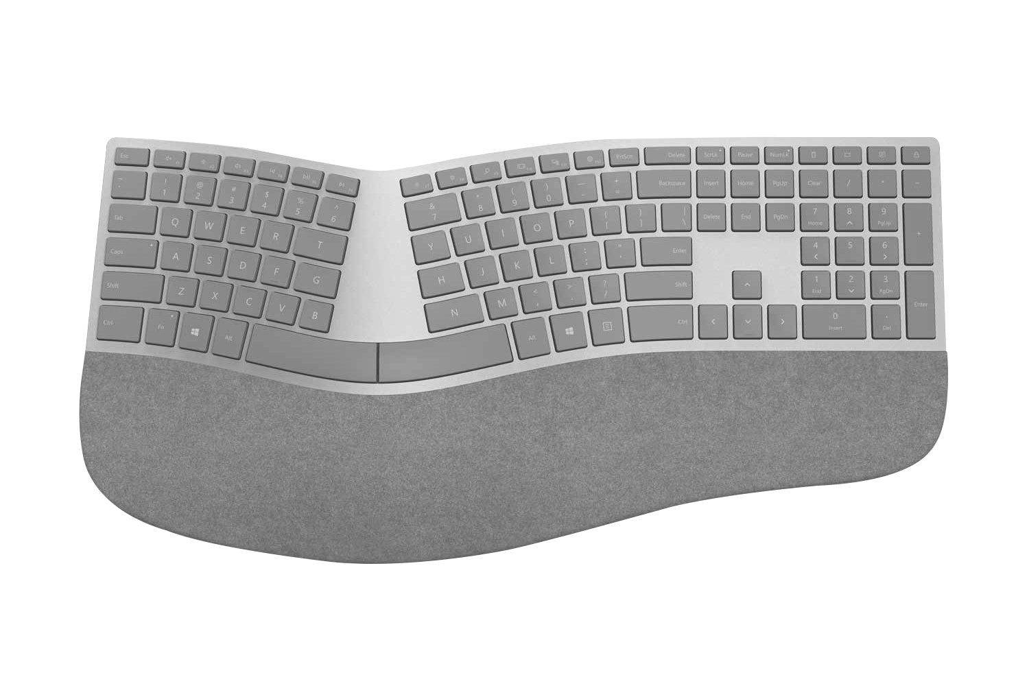 Microsoft Surface Ergonomic Bluetooth Keyboard | Grey