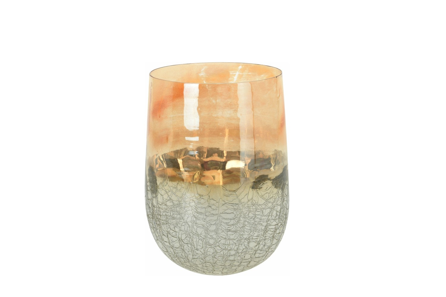 Tealight Holder Half Crackle