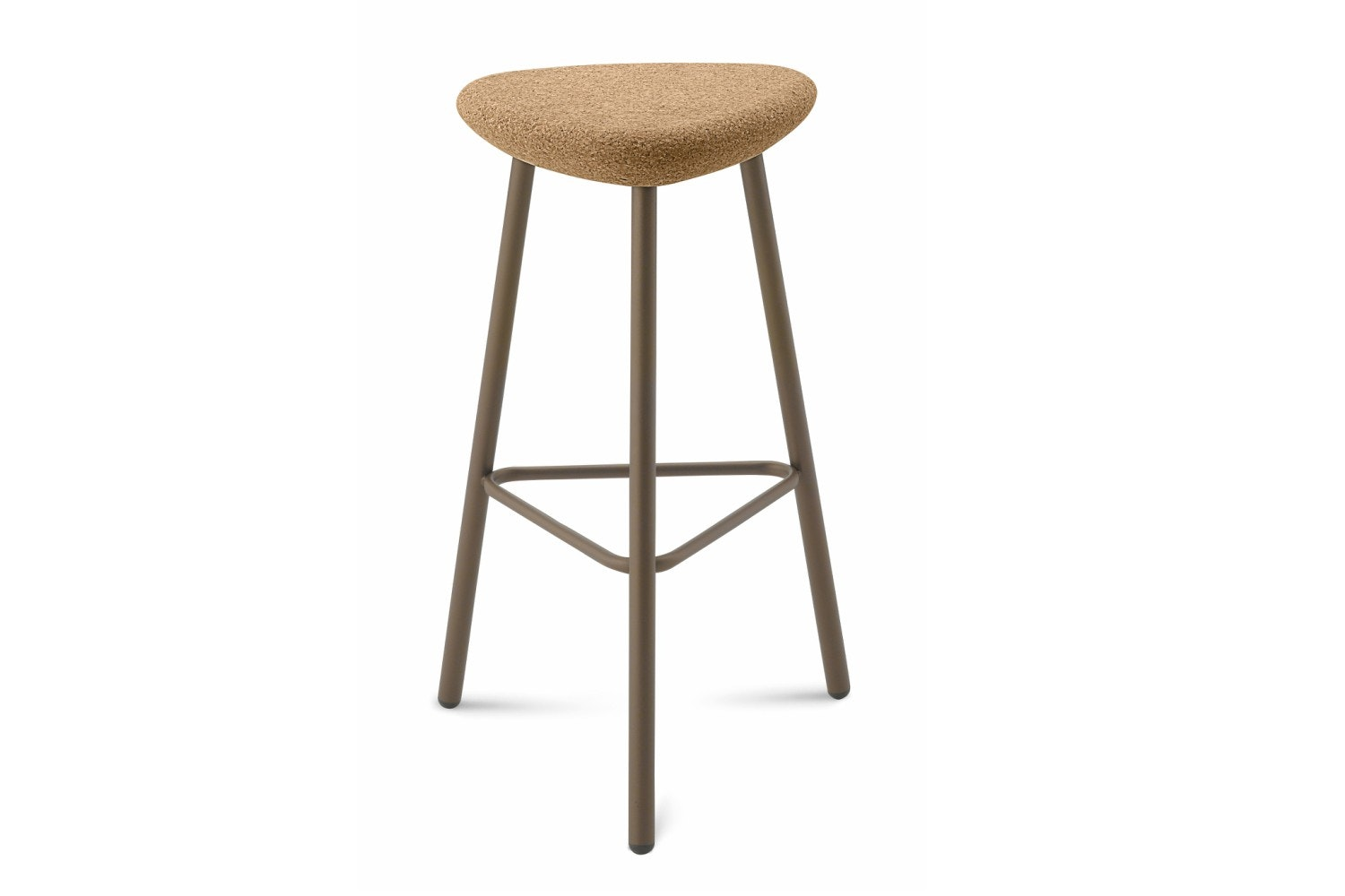 Pick Bar Stool | Small | Painted Frame And Cork Seat 66H