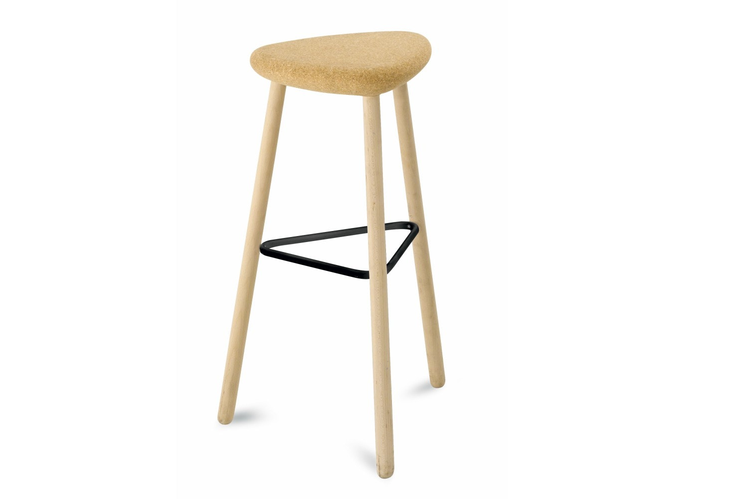Pick Bar Stool | Tall | Beech Frame And Cork Seat