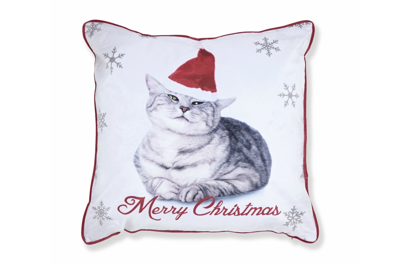 Merry Xmas Cat Cushion