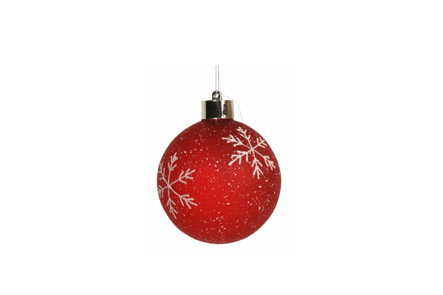 Red Snowflake Bauble | Small