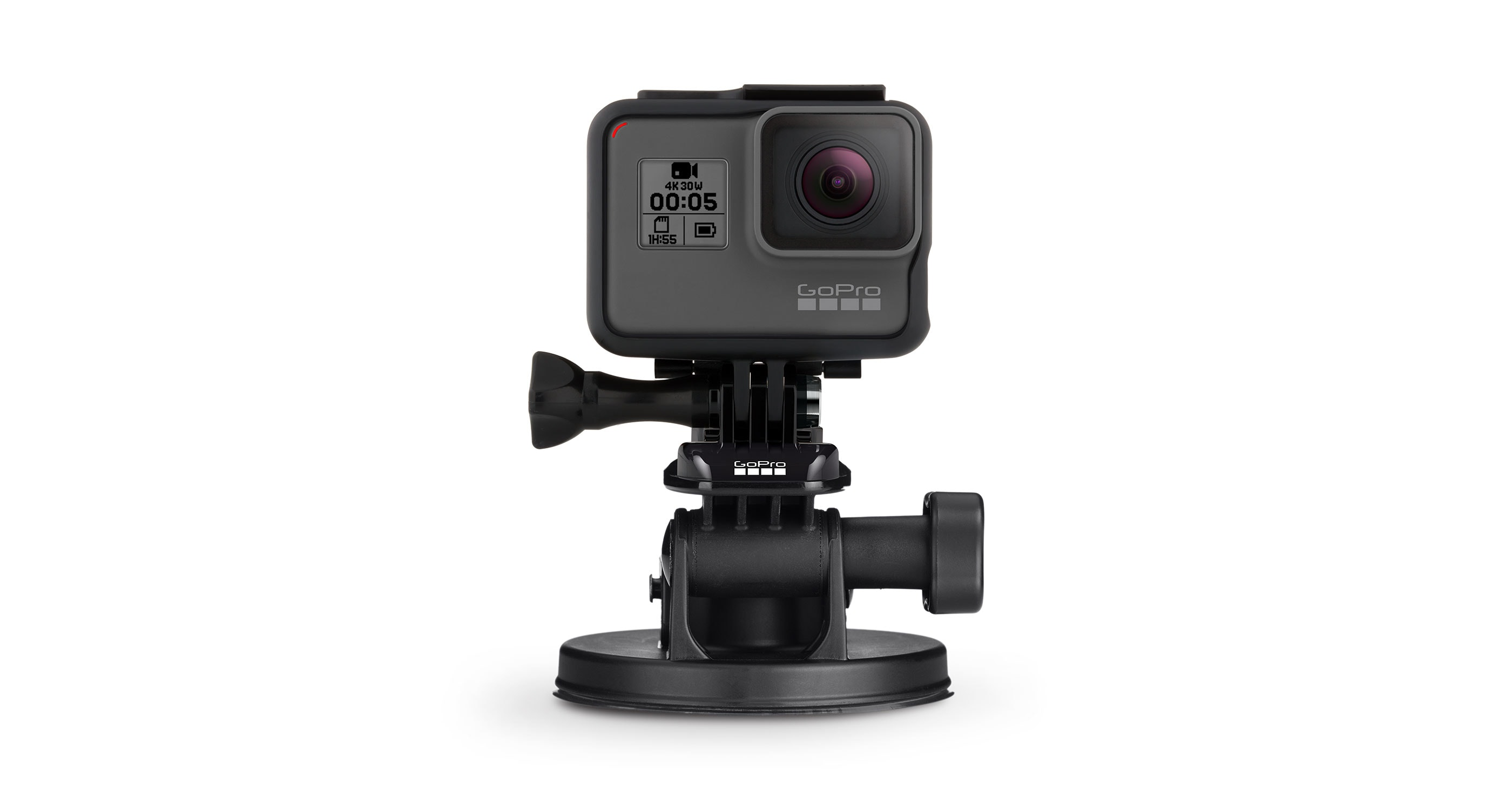 GoPro Suction Cup Camera Mount | Black