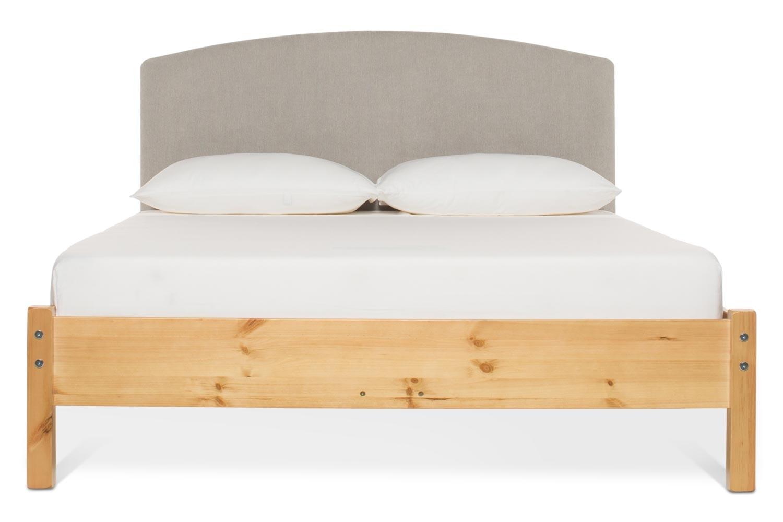 Emily Loft Natural Bed Frame | 4FT6 | Lennon Headboard Silver