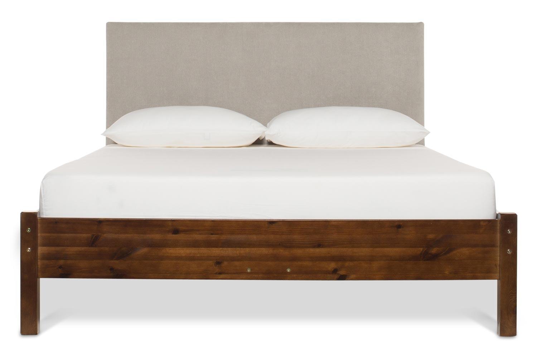 Emily Loft Walnut Bed Frame | 4FT6 | Dylan Headboard Silver