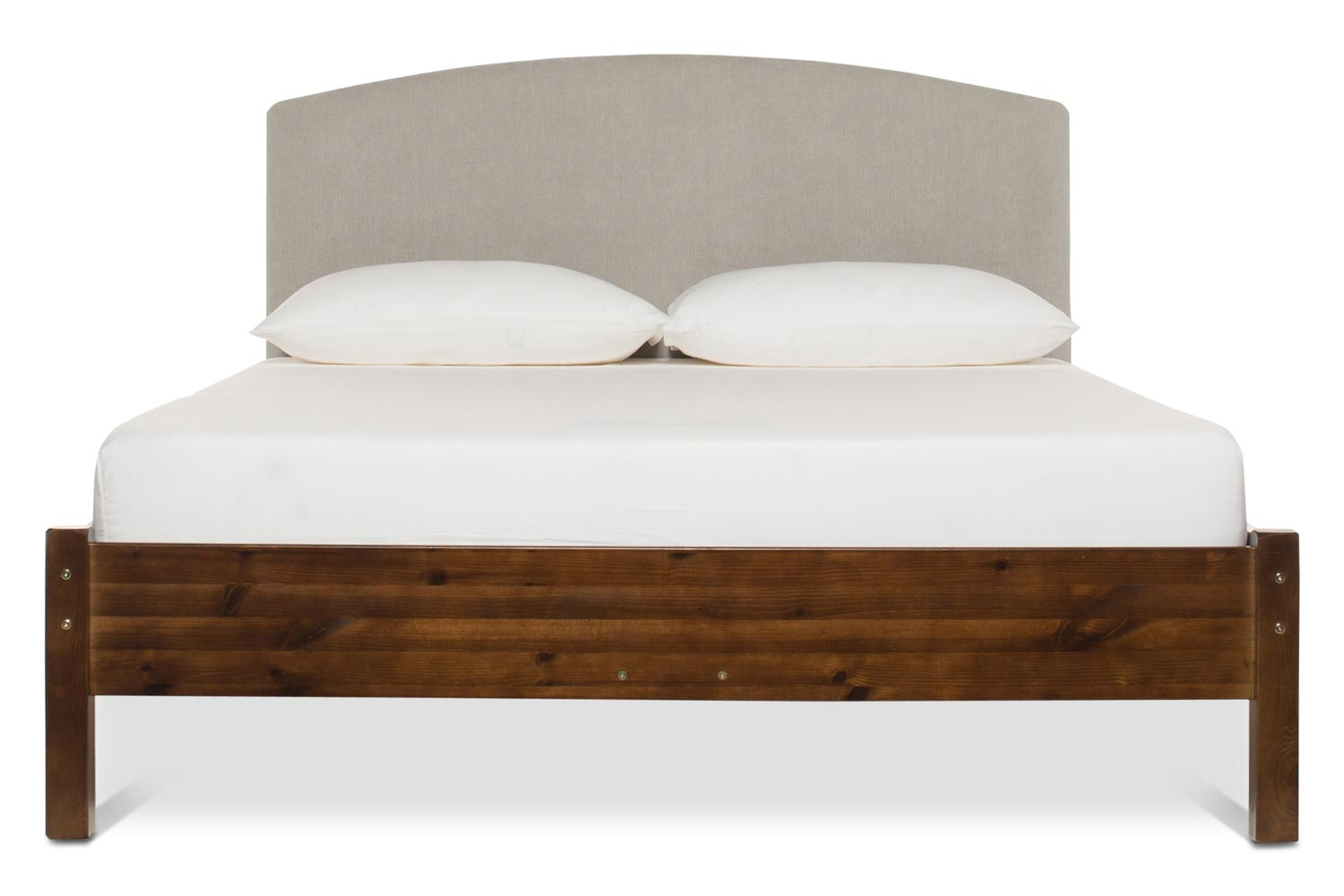 Emily Loft Walnut Bed Frame | 4FT6 | Lennon Headboard Silver