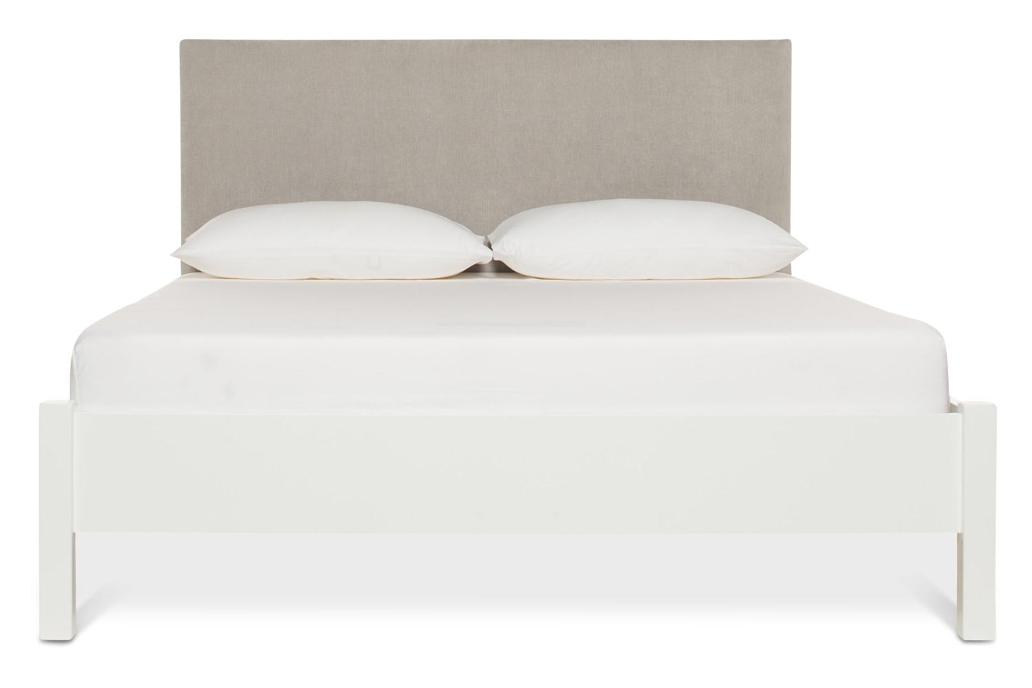 Emily Loft White Bed Frame | 4FT6 | Dylan Headboard Silver