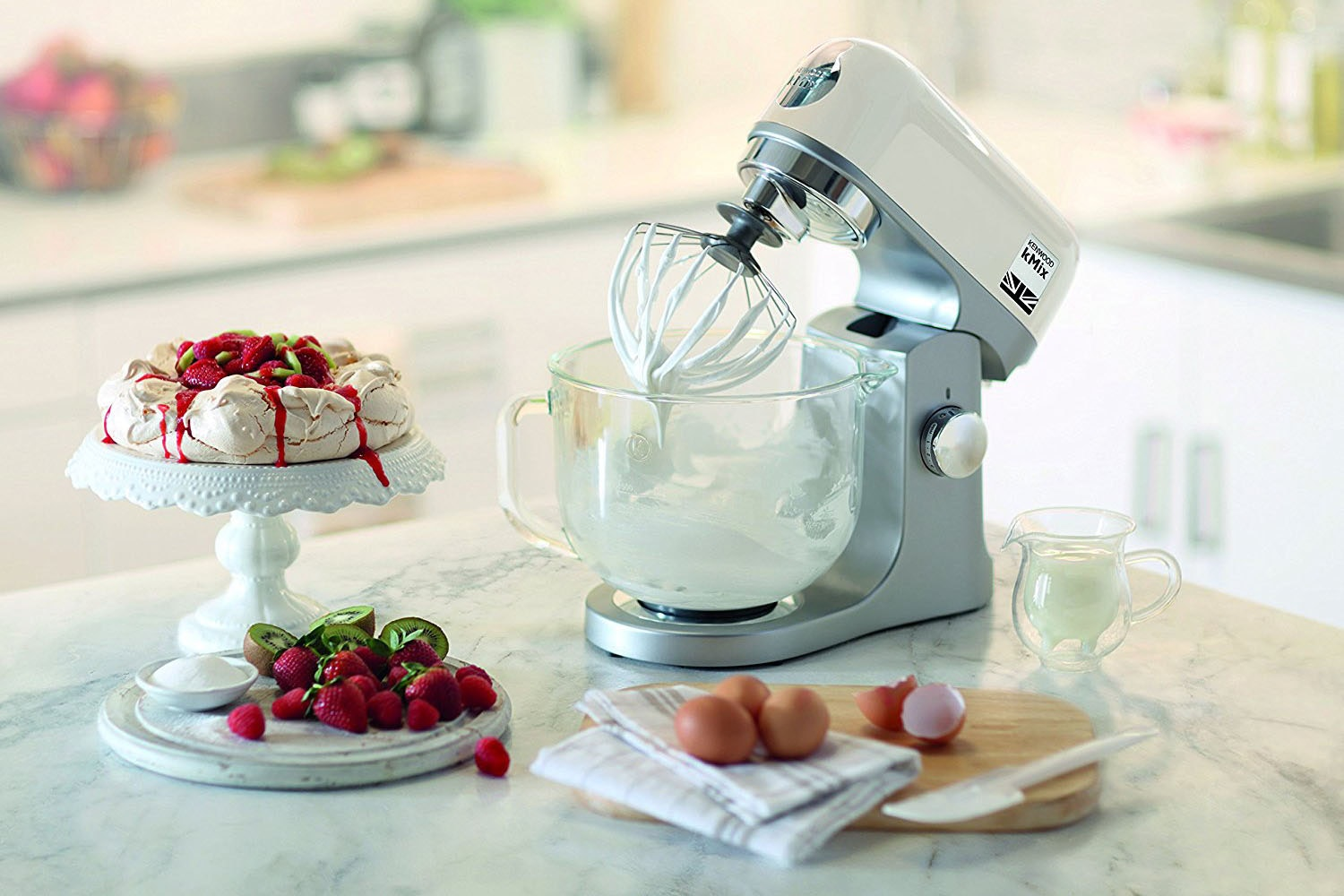 Kenwood kMix 5L Stand Mixer & Kettle & Toaster Bundle | Cream