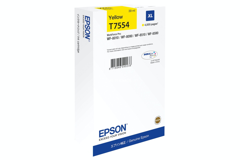 Epson T7554 Original Ink Cartridge | Yellow
