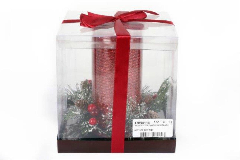 16Cm Glitter Candle Wreath