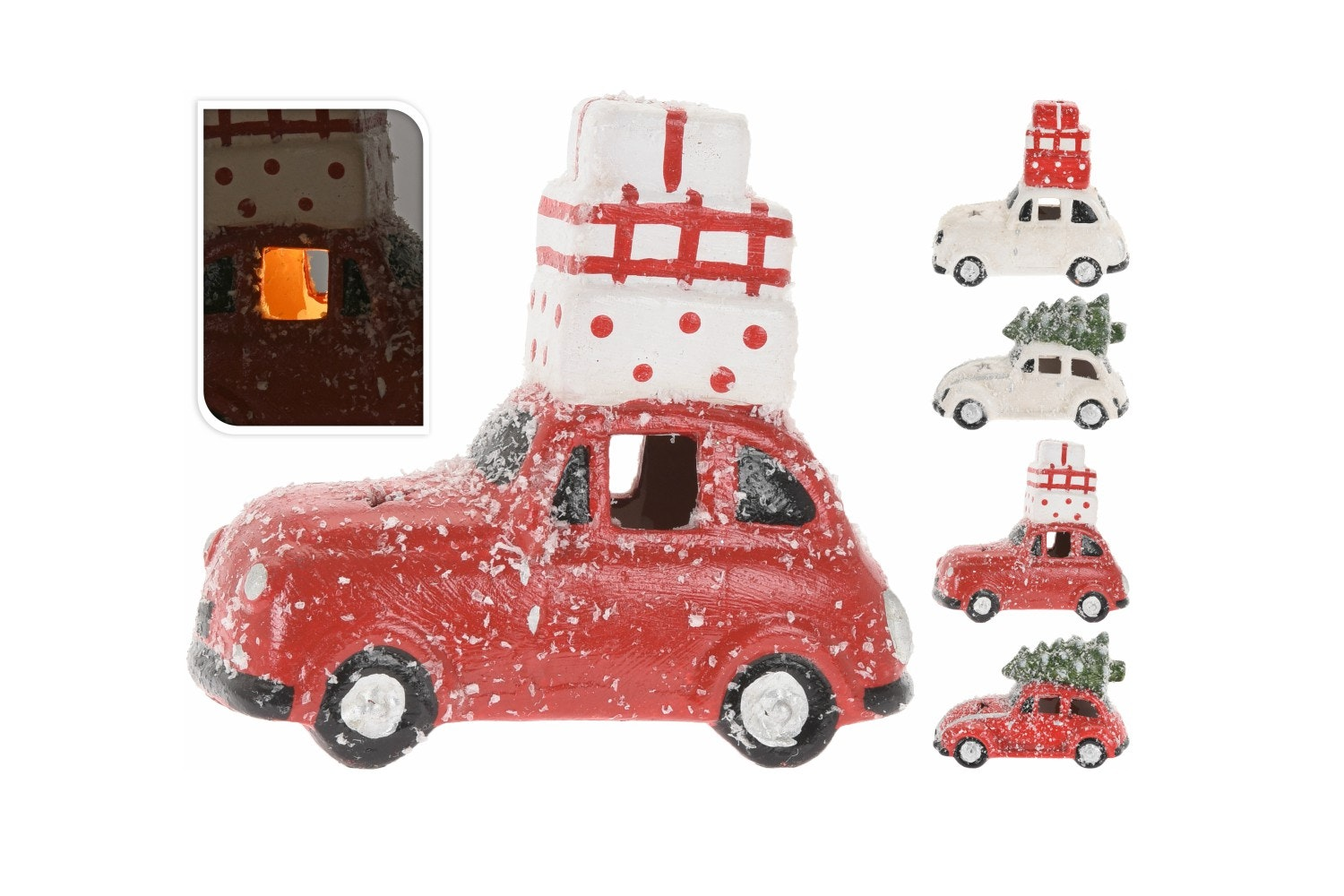 Car Snow And Led Decoration