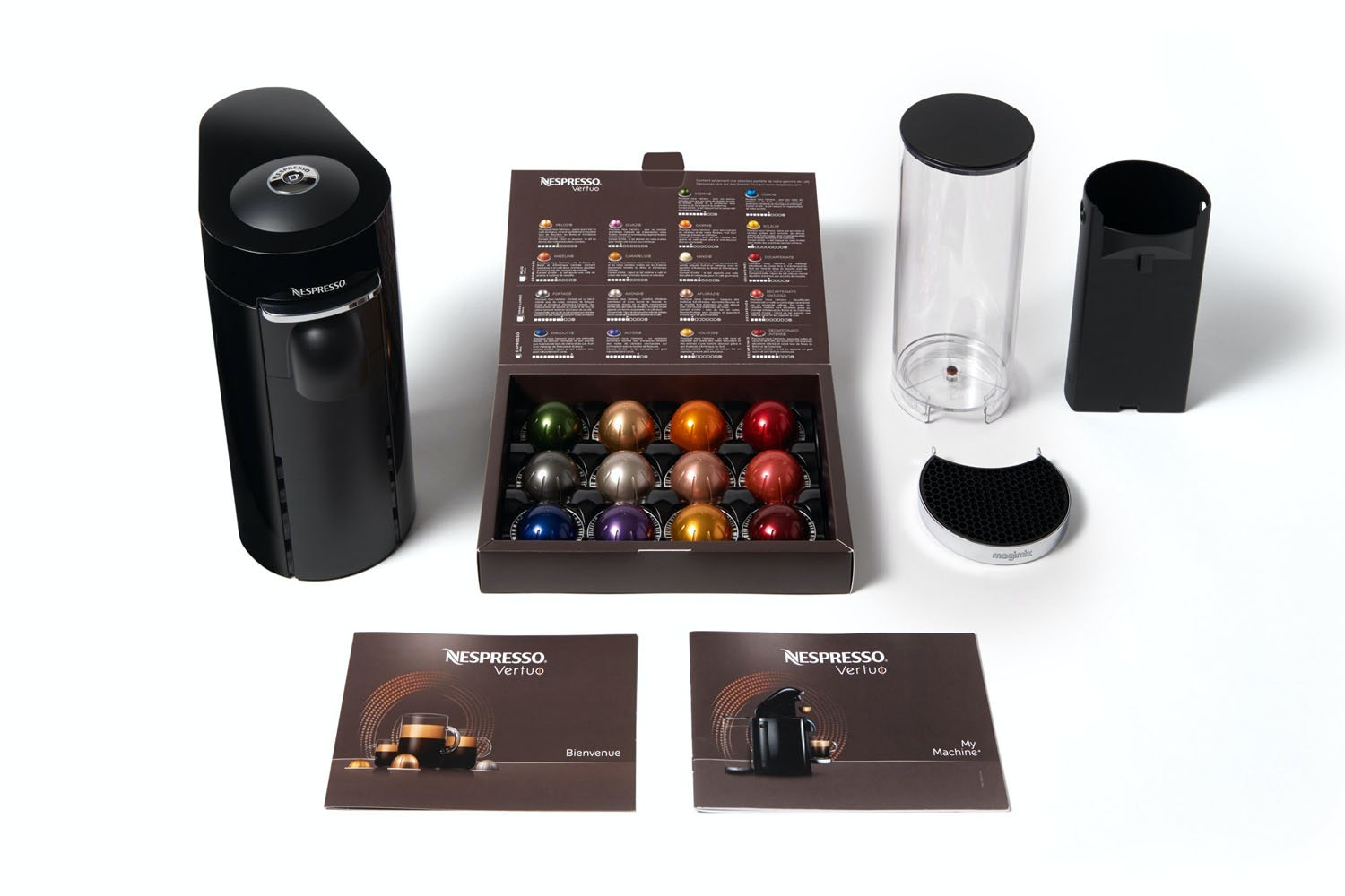 Nespresso Vertuo Coffee Machine | Piano Black by Magimix