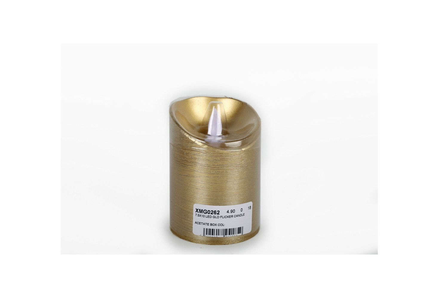 Led Gold Flicker Candle