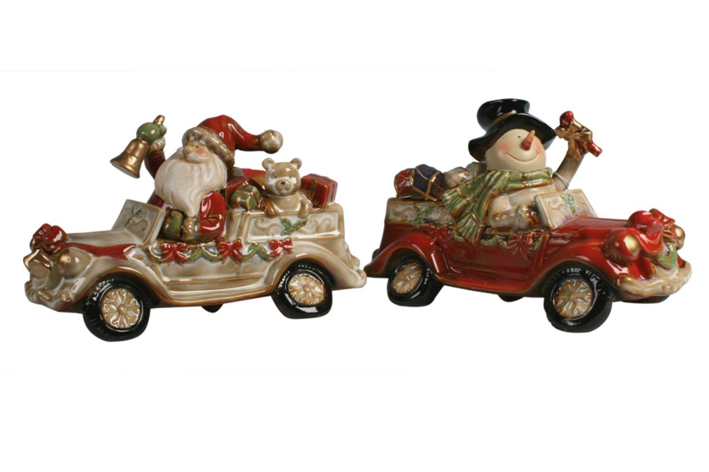 Santa&Snowman Car T Light holder