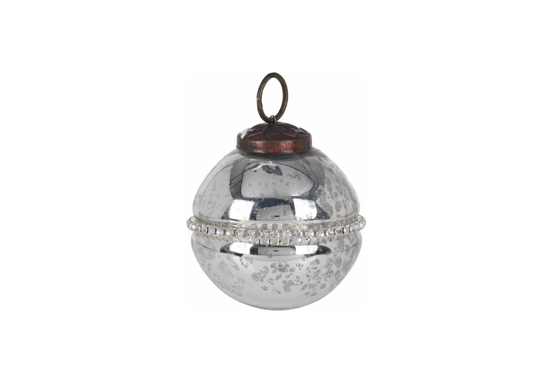 Xmas Ball Glass | Silver