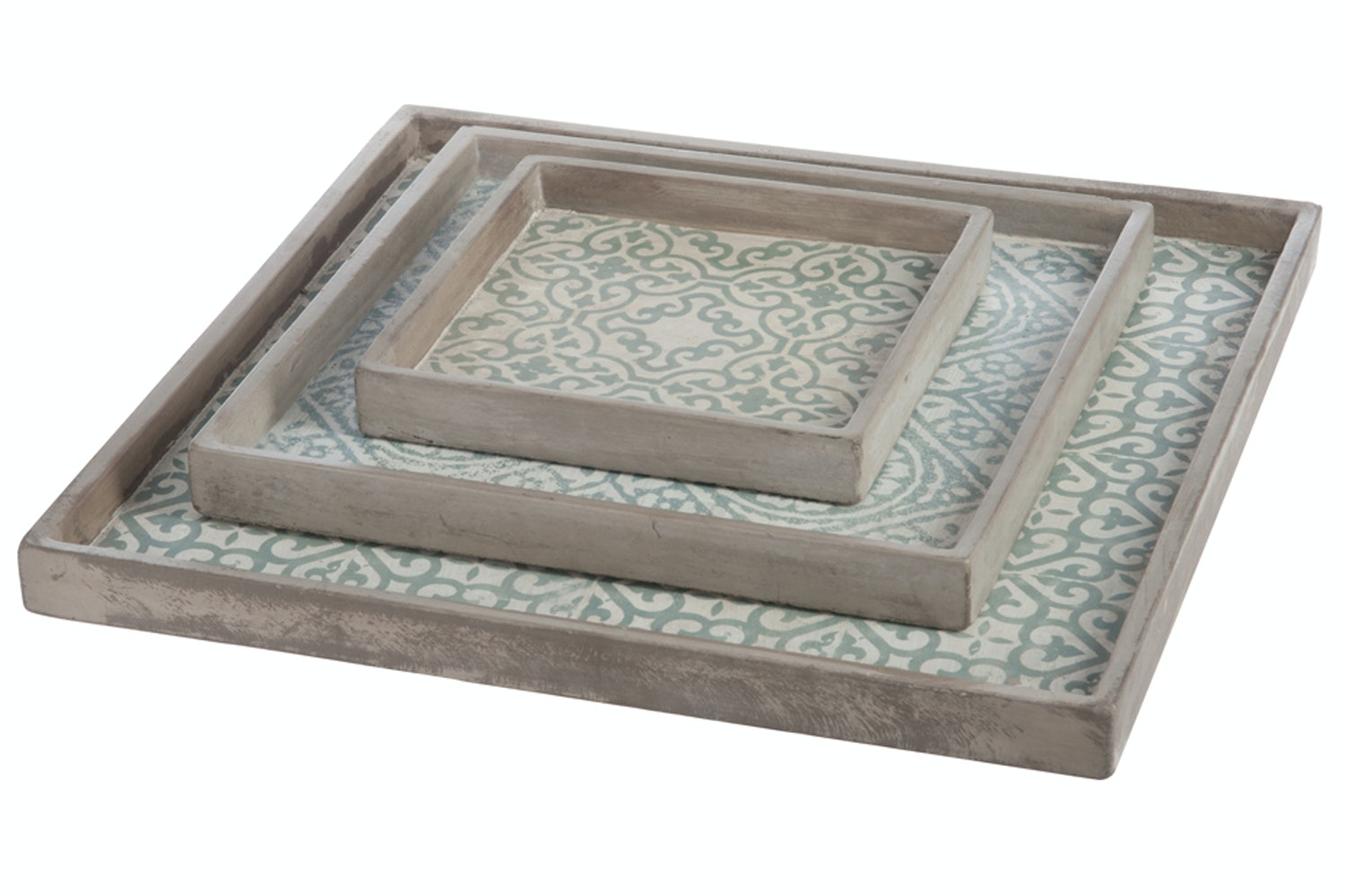 Tray Cement Mint Orient | Large