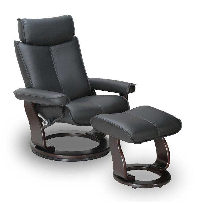 Captains recliner black