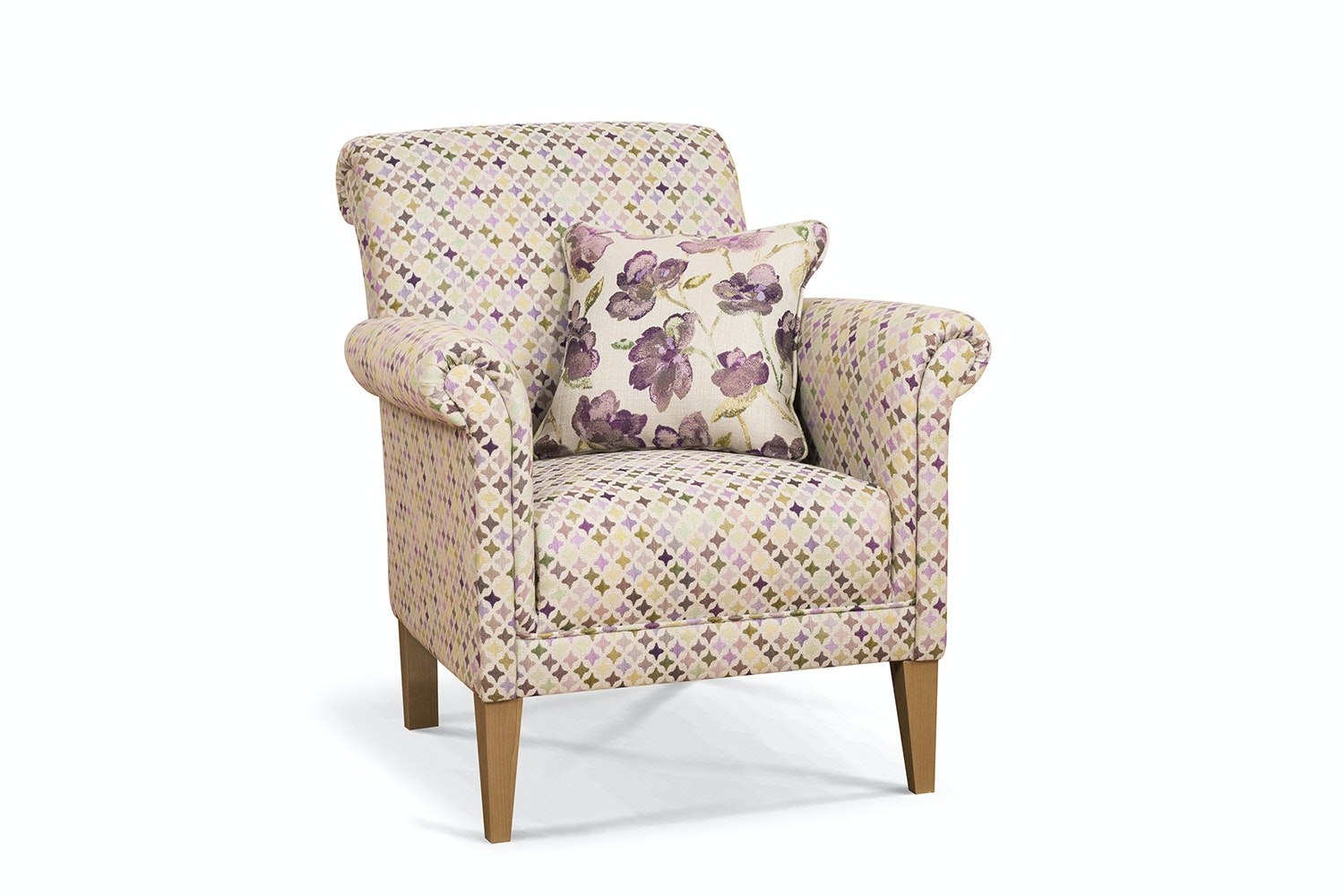 Preston Bedroom Chair | Star Rose With Scatter